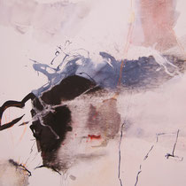 """Portrait"", 50 x 60, Tusche, Pigment, Leinwand"