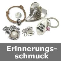 Erinnerungsschmuck, Glasperlen mit Asche, Ascheschmuck