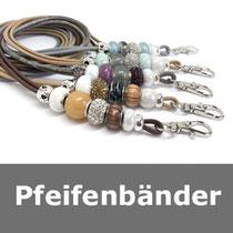 Pfeifenbänder, Lederbänder,Hundepfeifenbänder