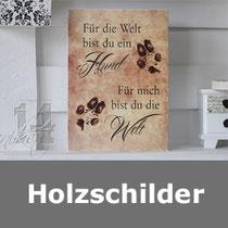 Holzschilder, Schilder, Spruchschilder