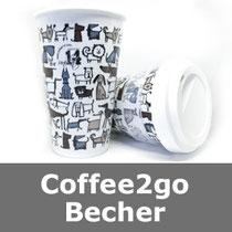 Coffee2go, Coffee to go, Becher, Tasse