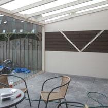 Tuinkamer met aluminium en composiet wanden