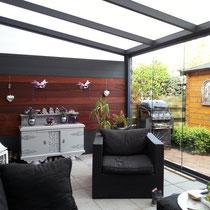 Tuinkamer met hout aluminium wanden Almere Buiten