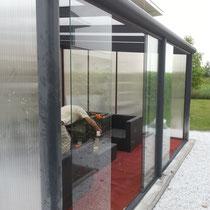 Tuinkamer zijwanden polycarbonaat Nieuwegein