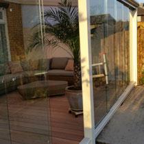 Tuinkamer 8 x 4 slidingdoors hardhouten vloer Almere Buiten