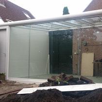 Haarlem Veranda met schuur en aluminium poort deur