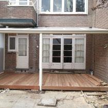 Veranda met Hard houten vloer Rotterdam