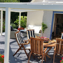 L vorm tuinkamer met glasdak Zeewolde