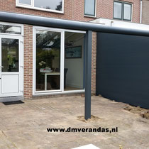 Haarlem veranda  aluminium zijwanden