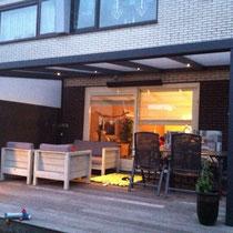 Veranda met sliding doors op Hout terras Purmerend