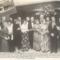25-jähriges Vereinsjubiläum 1977.