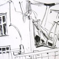 O.T., 2009/10, Kohle auf Papier, 30x42 cm
