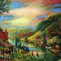 """Ardennes"" toile 150 x 100 cm"
