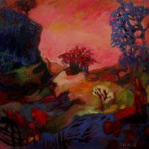 // Elixir // Acrylique sur toile, pigments - 50 x 50 cm