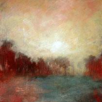 // Brume // Acrylique sur toile, pigments- 38 x 46 cm