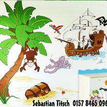 Piratenschiff für ein Kinderzimmer