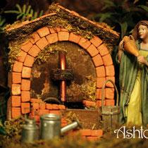 Waterput gedecoreerd met miniatuur bakstenen
