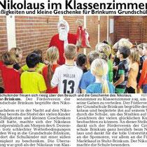 Weser-Kurier/Mein Verein vom 22.12.2013