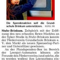 Weser Kurier / Mein Verein vom 29.12.2013