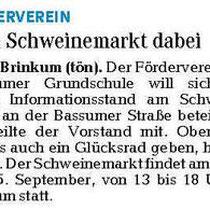 Weser Kurier / Regionale Rundschau vom 09.09.2013