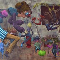 L'âme extérieure. Acrylique sur toile. 116/73 cm. 2015