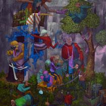 Je cherche encore. Acrylique sur toile. 73/92 cm. 2013