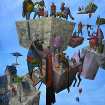 Convoi. Acrylique sur toile. 73/92 cm. 2013