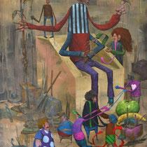 Le roi. Acrylique sur toile. 60/81 cm. 2014