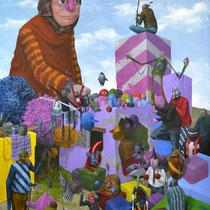 Le monde appartient aux enfants. Acrylique sur toile. 65/92 cm. 2012