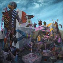 Acceptons notre liberté. Acrylique sur toile. 100/100 cm. 2013