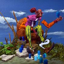 Vénération de la goutte. Acrylique sur toile. 75/25 cm. 2016