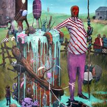 """Je t'aime """"Monsanto"""". Acrylique sur toile. 73/92 cm. 2012"""
