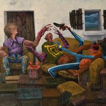 Autocensure. Acrylique sur toile. 54/46 cm. 2016