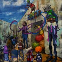 Partage. Acrylique sur toile. 70/70 cm. 2014