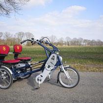Das Van Raam Fun2Go Tandem Dreirad für Erwachsene