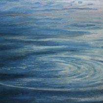 reflet du ciel dans l'eau - acrylique sur bois - 20x31 cm - 2012 - M - Pavlïn