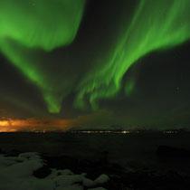 Polarlicht über Bø, Andøy, Norwegen. 2009 © Robert Hansen