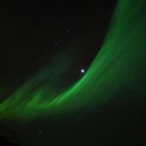 Polarlicht neben dem Jupiter über Svartskard, Norwegen. 2014 © Robert Hansen