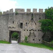 gotische Schildmauer von innen