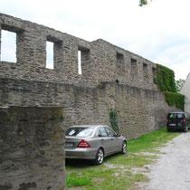 Ringmauer mit Gebäuderesten