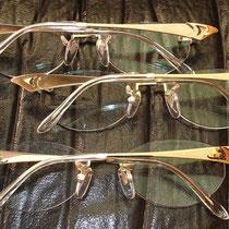 蒔絵の眼鏡(18金)