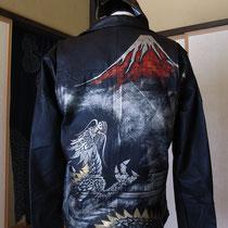 蒔絵の革ジャケット