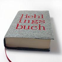 Buchhülle Wollfilz Lieblingsbuch