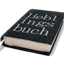 Buchhülle Filz