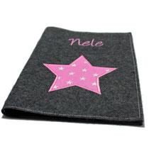 Bild: U-Heft Hülle aus Filz mit Stern