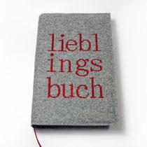 Buchhülle Filz Lieblingsbuch