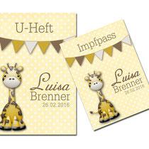 Bild: U-Heft und Impfpass Hüllen Set Giraffe