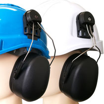 Model #406 Ear-Muff Mounted on Safety Helmet