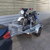 Anhängervermietung Motorrad