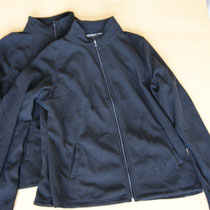 Two same-sized fleece jackets